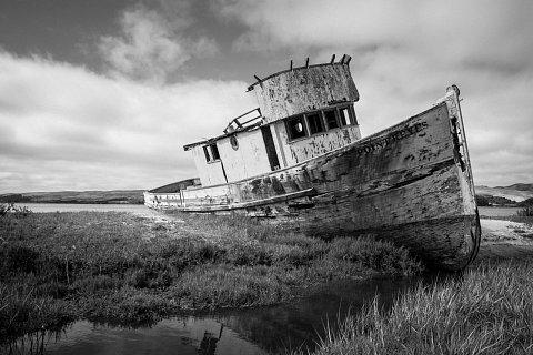 Point Reyes Abandoned Boat